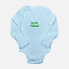 Raw Vegan Long Sleeve Infant Bodysuit
