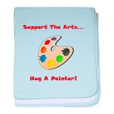 Hug A Painter! baby blanket