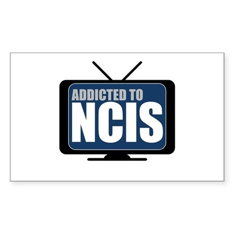 Addicted to NCIS Sticker (Rectangle)