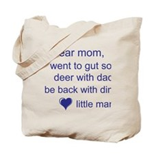 gut deer with dad Tote Bag