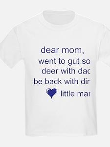 gut deer with dad T-Shirt