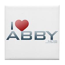 I Heart Abby Tile Coaster