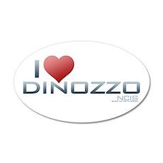 I Heart DiNozzo 22x14 Oval Wall Peel