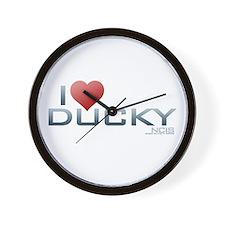 I Heart Ducky Wall Clock