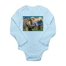 St Francis / Affenpinscher Long Sleeve Infant Body