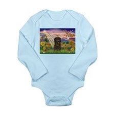 Autumn Angel /Affenpinscher Long Sleeve Infant Bod