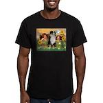 Cherubs / Aussie (tri) Men's Fitted T-Shirt (dark)