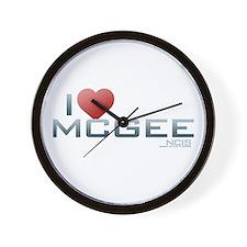 I Heart McGee Wall Clock