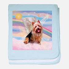 Australian Terrier Angel baby blanket