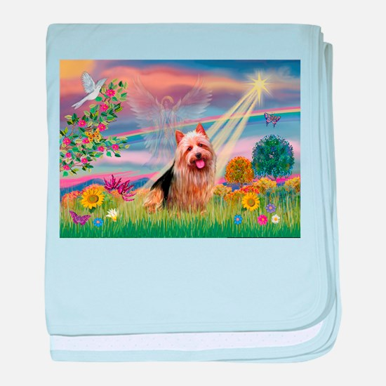 Clous Angel Aussie Terrier baby blanket