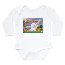 Cloud Angel & Bichon Long Sleeve Infant Bodysuit