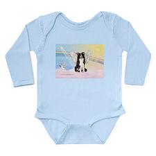 Border Collie Angel Long Sleeve Infant Bodysuit