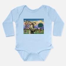St Francis & Border T Long Sleeve Infant Bodysuit