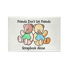 Scrapbook Friends Rectangle Magnet