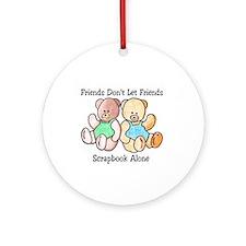 Scrapbook Friends Ornament (Round)