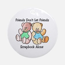 Scrapbook Friends Ornament (Round)