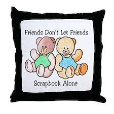 Scrapbook Friends Throw Pillow