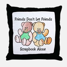 Scrapbook Friends Throw Pillow