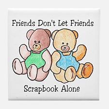 Scrapbook Friends Tile Coaster