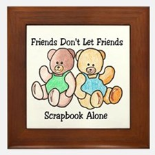 Scrapbook Friends Framed Tile
