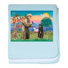 St Francis & Bouvier baby blanket