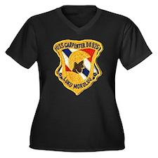 USS CARPENTER Women's Plus Size V-Neck Dark T-Shir