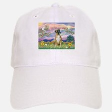 Cloud Angel & Boxer Baseball Baseball Cap