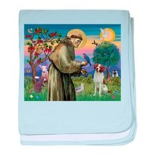 St Francis / American Brittan baby blanket