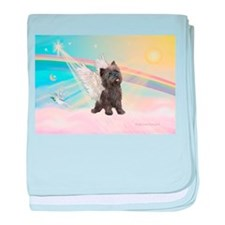 Angel / Cairn Terrier (brin) baby blanket