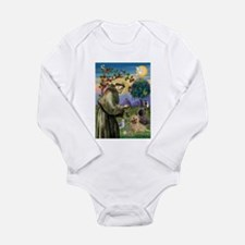 St Francis / Cairn Terrier Long Sleeve Infant Body
