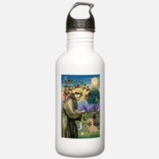 St Francis / Cairn Terrier Water Bottle