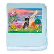 Cloud Angel / Chihuahua (bl) baby blanket