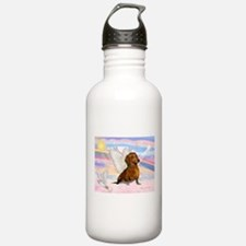 Dachshund / Angel (brn) Water Bottle