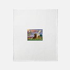 Cloud Angel & Dachshund Throw Blanket