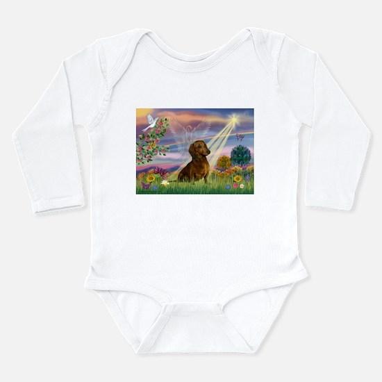 Cloud Angel & Dachshund Long Sleeve Infant Bodysui