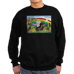 Rainbow Bright / Dachshund (w Sweatshirt (dark)
