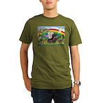 Rainbow Bright / Dachshund (w Organic Men's T-Shir
