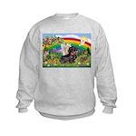 Rainbow Bright / Dachshund (w Kids Sweatshirt