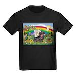 Rainbow Bright / Dachshund (w Kids Dark T-Shirt