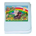 Rainbow Bright / Dachshund (w baby blanket
