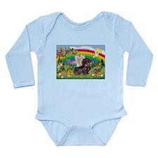 Rainbow Bright / Dachshund (w Long Sleeve Infant B