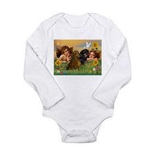 Angels & Dachshund Pair Long Sleeve Infant Bodysui