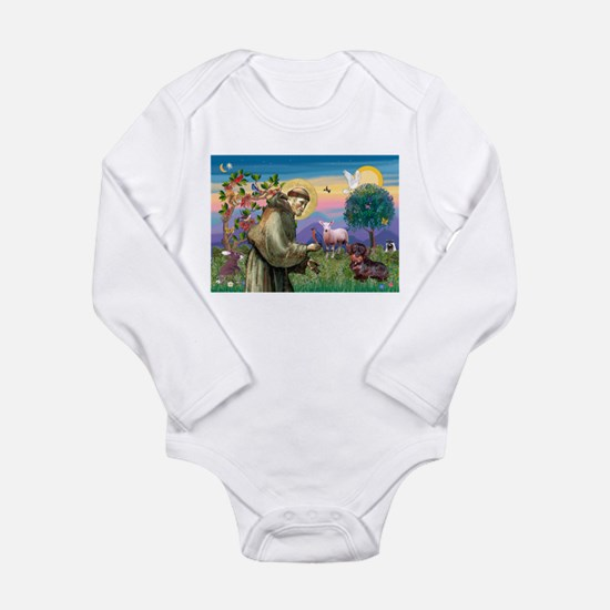 St Francis Doxie Long Sleeve Infant Bodysuit