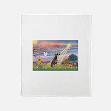 Cloud Angel - Dobie (B) Throw Blanket