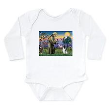 St Francis /English Springer Long Sleeve Infant Bo