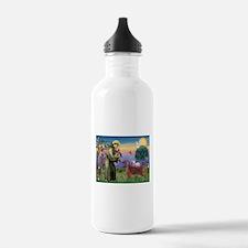 St Francis / Irish Setter Water Bottle