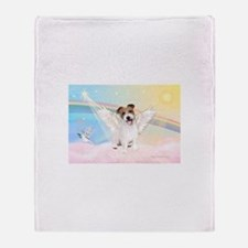 Angel /Jack Russell Terrier Throw Blanket