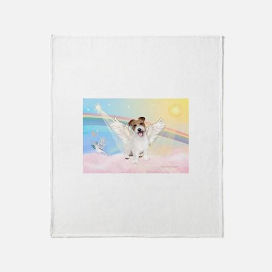 Angel /Jack Russell Terrier Throw Blanket