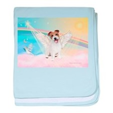 Angel /Jack Russell Terrier baby blanket