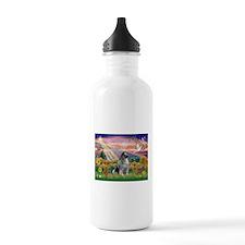 Autumn Angel/Keeshond Water Bottle